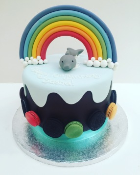 Dolphin and Rainbow Cake